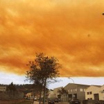 Weird Orange Clouds Seen Over Spain