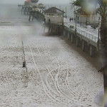 Rare Hail Storm Hits Huntington Beach California VIDEO